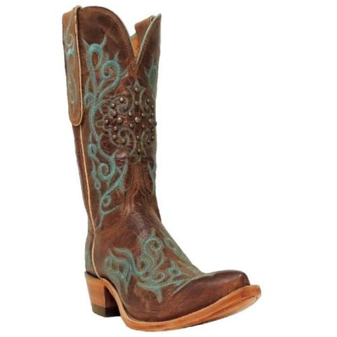 Lucchese Ladies Peanut Brittle Burnished Mad Dog Goat Boots N4746 - Wild West Boot Store - 1