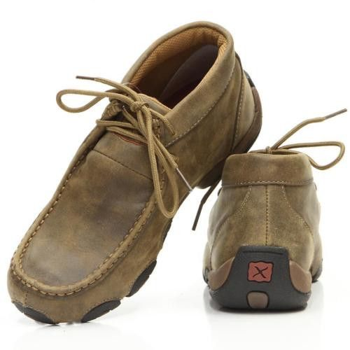 Twisted X Ladies Brown Leather Driving Mocs WDM0001 - Wild West Boot Store - 1