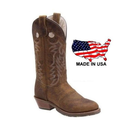 DOUBLE-H Women's Domestic Brown ICE Buckaroo Boots DH5159 - Wild West Boot Store - 1