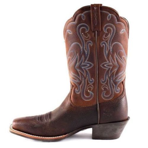 Ariat Ladies Legend Scalloped Boots - Brown Oiled Rowdy 10001046 - Wild West Boot Store