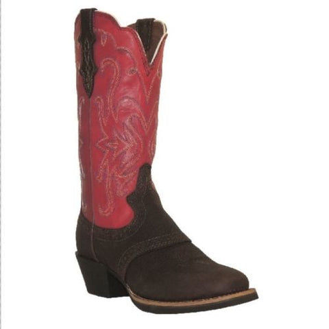 Justin Ladies Cherry Stampede Square Toe Saddle Vamp Boots L7311 - Wild West Boot Store - 1