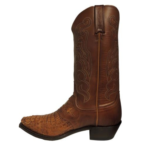 Lucchese Men's Tan Burnished Hornback Caiman Boots M2536.54 - Wild West Boot Store - 5
