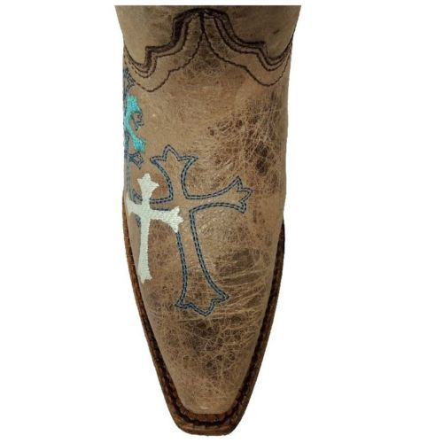 Corral Children's Grey/Turquoise Cross Boot A2853 - Wild West Boot Store - 5