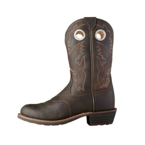 Ariat Ladies Heritage Roughstock Antique Brown Boots 10001594 - Wild West Boot Store