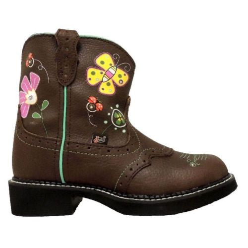 Justin Children's Gypsy Floral Light-Up Boot 9207JR - Wild West Boot Store - 3