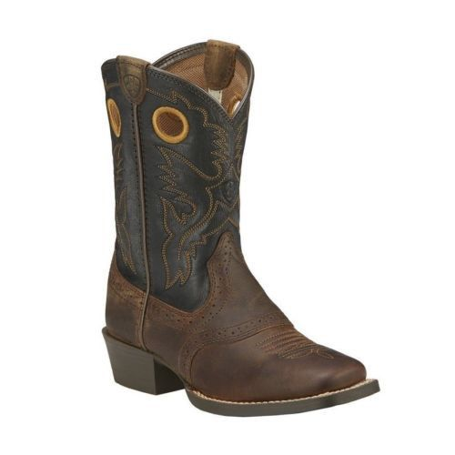 Ariat Children's Distressed Brown Roughstock Cowboy Boot 10016239 - Wild West Boot Store