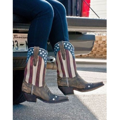 Dan Post Ladies Liberty Flag Western Boot DP3586 - Wild West Boot Store - 6