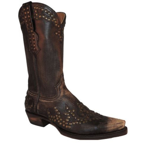 Stetson Ladies Vintage Western Boot with Rivets 12-021-6105-0742 - Wild West Boot Store - 1