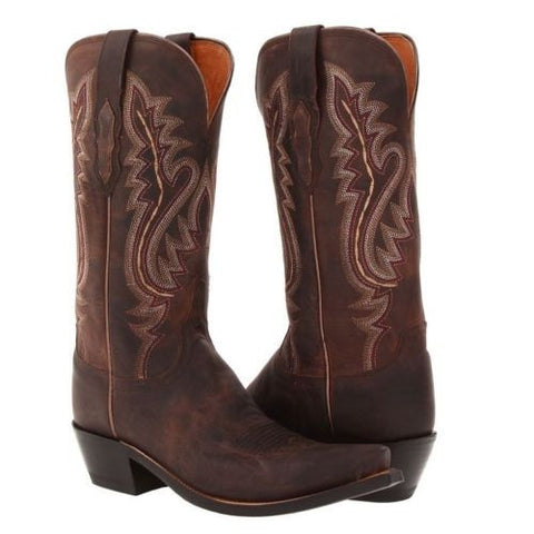 Lucchese Ladies Cassidy Chocolate Madras Goat Boots M5002.S54 - Wild West Boot Store - 1