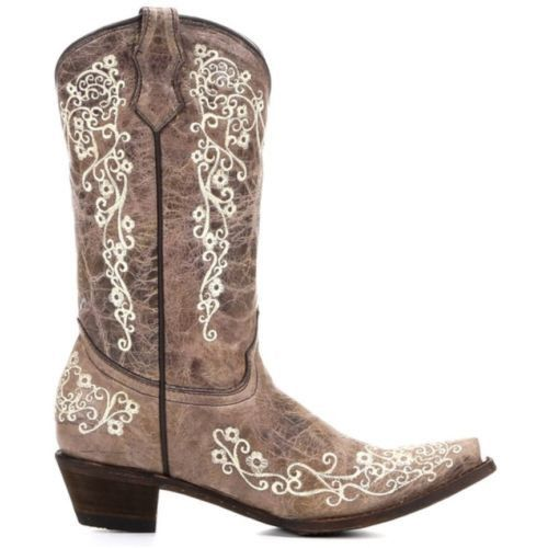 Corral Children's Brown with Bone Embroidery Cowgirl Boots A2773 - Wild West Boot Store - 3