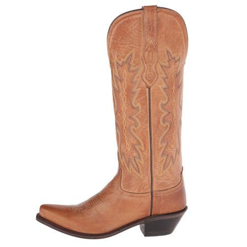 Old West Ladies Tan Embroidered Boot TS1541 - Wild West Boot Store - 5