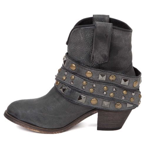 Corral Ladies Black Studded Strap Ankle Boot P5021 - Wild West Boot Store - 2