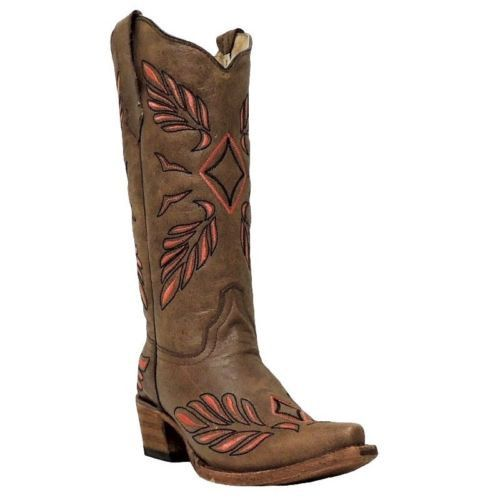 Circle G by Corral Ladies Brown Pink Diamond Cowgirl Boots L5131 - Wild West Boot Store - 1