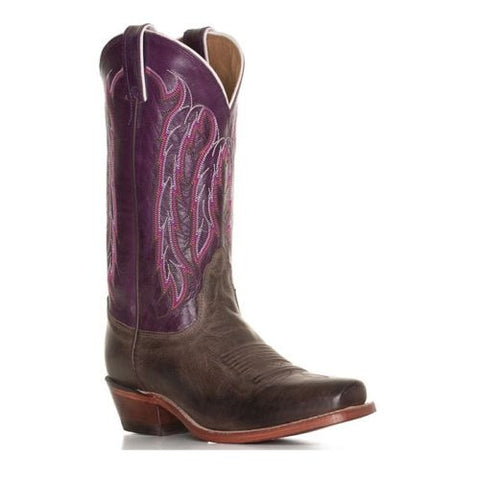 Nocona Ladies Chocolate America/ Purple Willow Boot LD4053 - Wild West Boot Store - 1