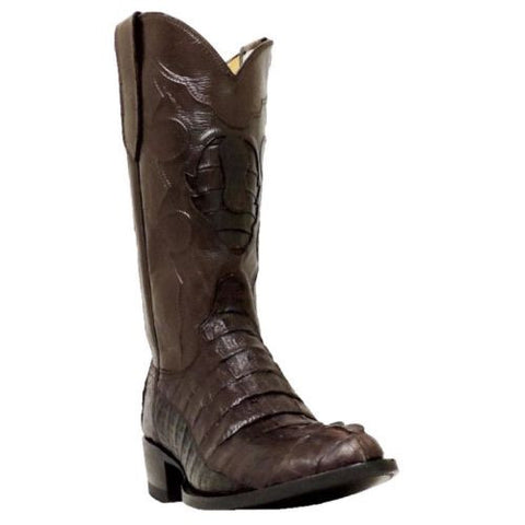 Cowtown Men's Brown Round Toe Caiman Boot W7475 - Wild West Boot Store - 1