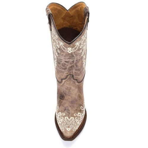 Corral Children's Brown with Bone Embroidery Cowgirl Boots A2773 - Wild West Boot Store - 6