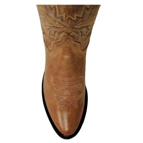 Old West Ladies Tan Embroidered Boot OW2029L - Wild West Boot Store - 5