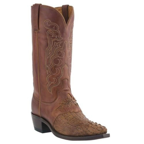 Lucchese Men's Tan Burnished Hornback Caiman Boots M2536.54 - Wild West Boot Store - 1