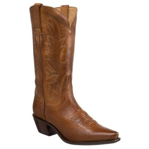 Lucchese Ladies Tan Burnished Boot I4508 - Wild West Boot Store - 1
