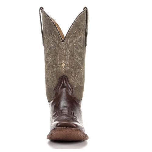 Circle G Corral Men's Basic Brown/Rustic Olive Square Toe Boot L5089 - Wild West Boot Store