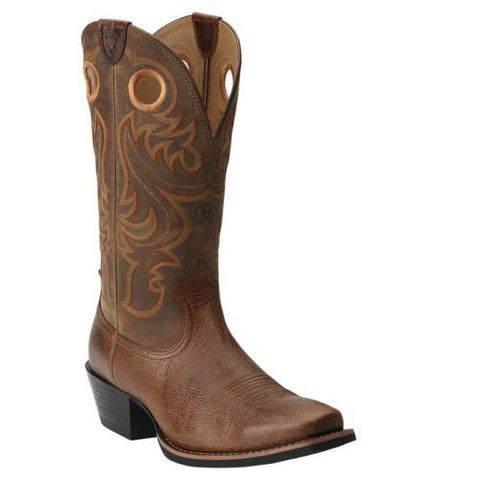 Ariat Men's Fiddle Brown Sport Square Toe Western Boot 10014025 - Wild West Boot Store - 1