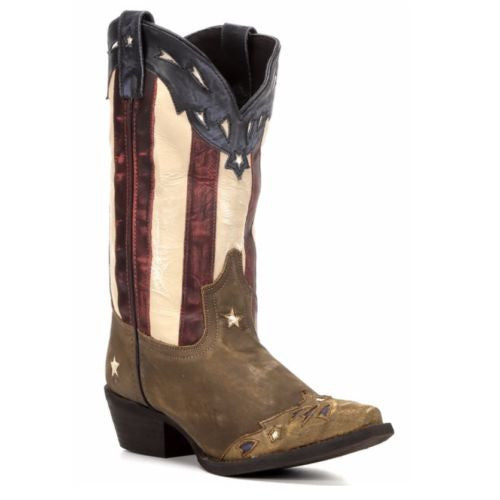 Laredo Ladies Keyes Stars and Stripes Flag Boots 52165 - Wild West Boot Store - 1