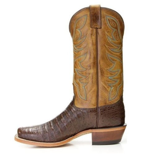 Nocona Men's Chocolate Genuine Caiman Brown Exotic Boots MD8602 - Wild West Boot Store - 2