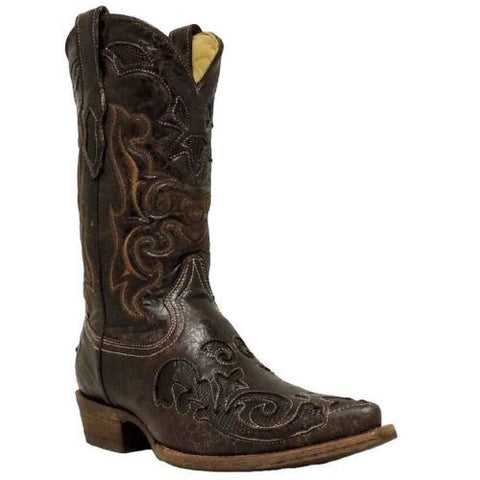 Corral Men's Brown Lizard Inlay Boot C2156 - Wild West Boot Store - 1