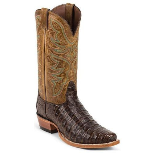 Nocona Men's Chocolate Genuine Caiman Brown Exotic Boots MD8602 - Wild West Boot Store - 1