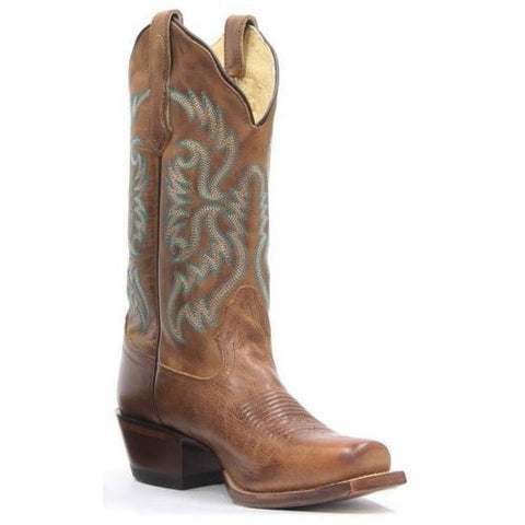 Nocona Women's Fashion Old West Tan Leather Cowgirl Boots NL5009 - Wild West Boot Store - 1