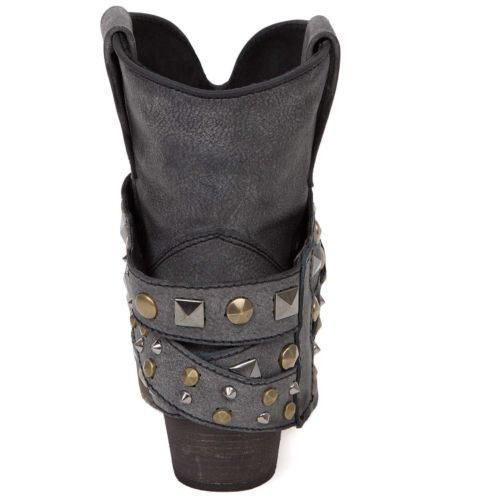 Corral Ladies Black Studded Strap Ankle Boot P5021 - Wild West Boot Store - 3