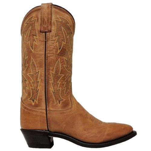 Old West Ladies Tan Embroidered Boot OW2029L - Wild West Boot Store - 3
