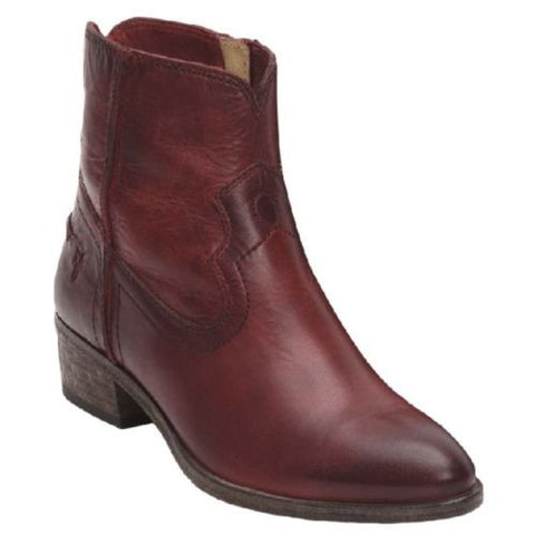 Frye Ladies Ray Seam Burgundy Short Boots 75883-BGY - Wild West Boot Store - 1