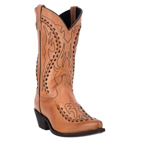 Laredo Men's Antique Tan Laramie Buckstitch Boots 68432 - Wild West Boot Store - 1