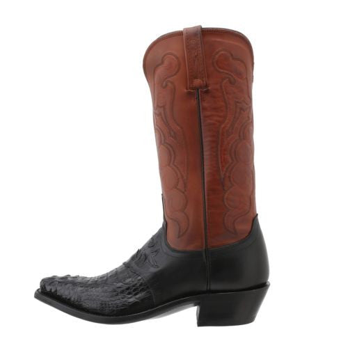 Lucchese Men's Since 1883 Saddle/Black Caiman Boot M2537.54 - Wild West Boot Store - 4
