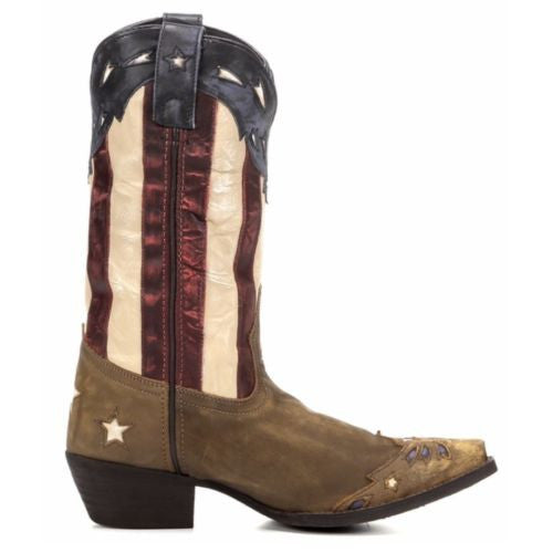 Laredo Ladies Keyes Stars and Stripes Flag Boots 52165 - Wild West Boot Store - 3