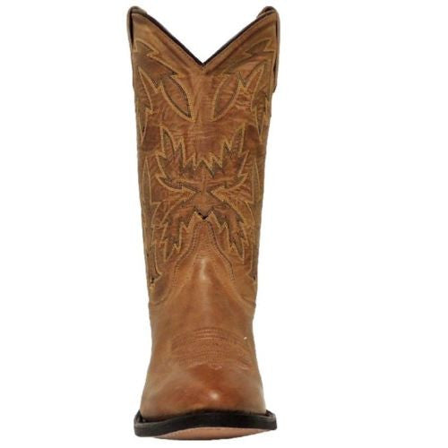 Old West Ladies Tan Embroidered Boot OW2029L - Wild West Boot Store - 2