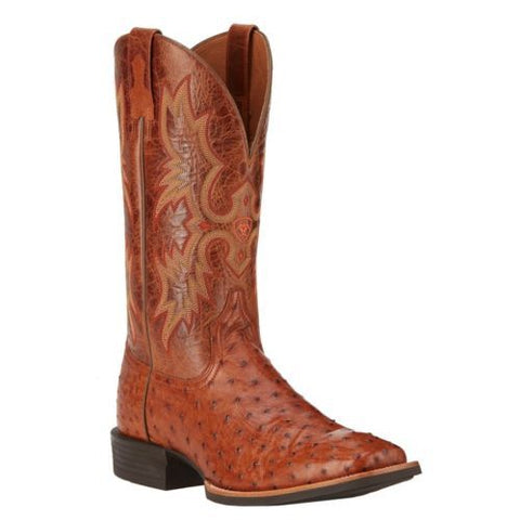 Ariat Men's Quantum Classic Brandy Full Quill Ostrich Boot 10016275 - Wild West Boot Store