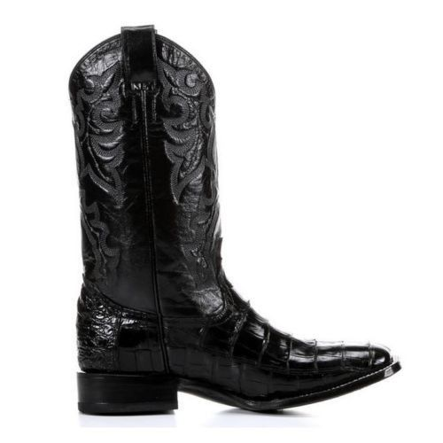 Circle G by Corral Men's Exotic Black Caiman Belly Boots L5009 - Wild West Boot Store