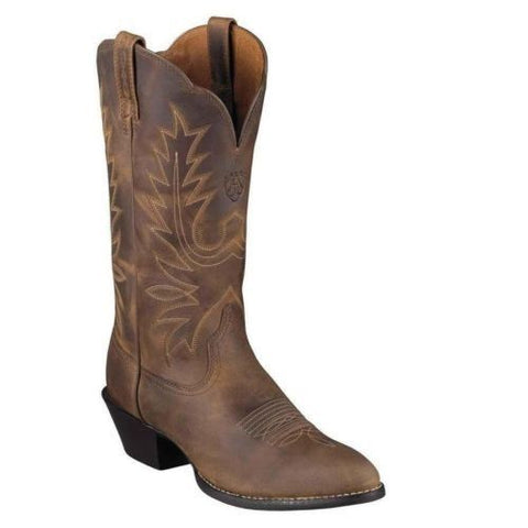 Ariat Ladies Heritage Western R Toe Boot – Distressed Brown 10001021 - Wild West Boot Store