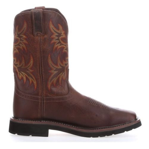 Justin Men's Brown Stampede Square Toe Work Boot WK4681 - Wild West Boot Store - 3