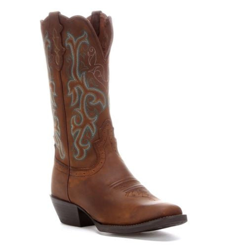 Justin Ladies Sorrel Apache Stampede Western Boots L2552 - Wild West Boot Store - 1