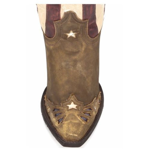 Laredo Ladies Keyes Stars and Stripes Flag Boots 52165 - Wild West Boot Store - 6