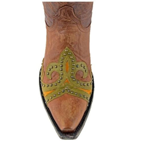 Old Gringo Taka Brass Stud Boots L814-3 - Wild West Boot Store - 4