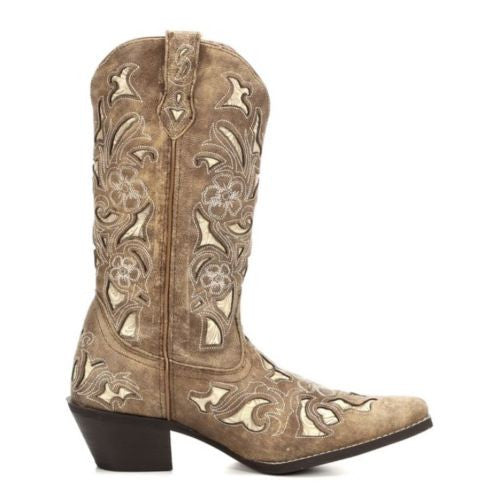 Laredo Ladies Sharona Crackle Sanded Goat Boot 52041 - Wild West Boot Store - 2
