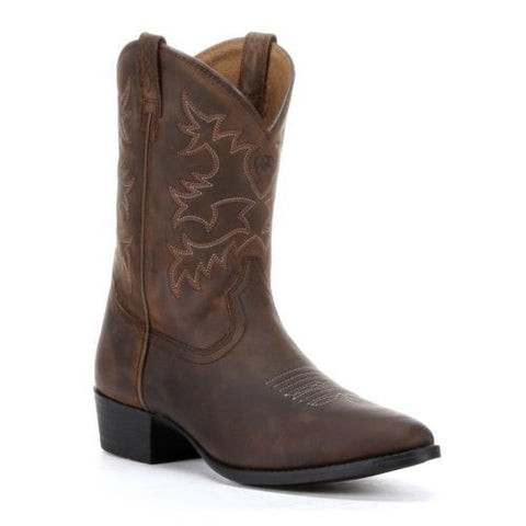 Ariat Children's Heritage Western Brown Leather Cowboy Boots 10001825 - Wild West Boot Store