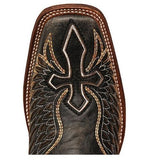 Corral Men's Black Cross And Wing Cowboy Boots A1972 - Wild West Boot Store - 6