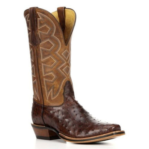 Nocona Men's Brown Sienna Full Quill Ostrich Cowboy Boots MD5103 - Wild West Boot Store - 1