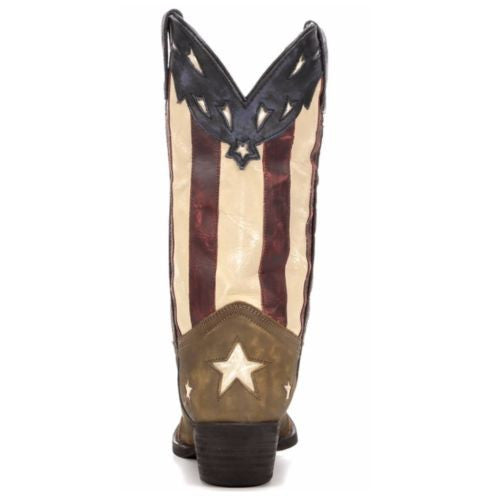 Laredo Ladies Keyes Stars and Stripes Flag Boots 52165 - Wild West Boot Store - 4