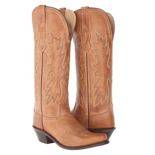 Old West Ladies Tan Embroidered Boot TS1541 - Wild West Boot Store - 1